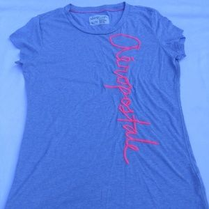 Aeropostale embroidered spell-out women's t-shirt
